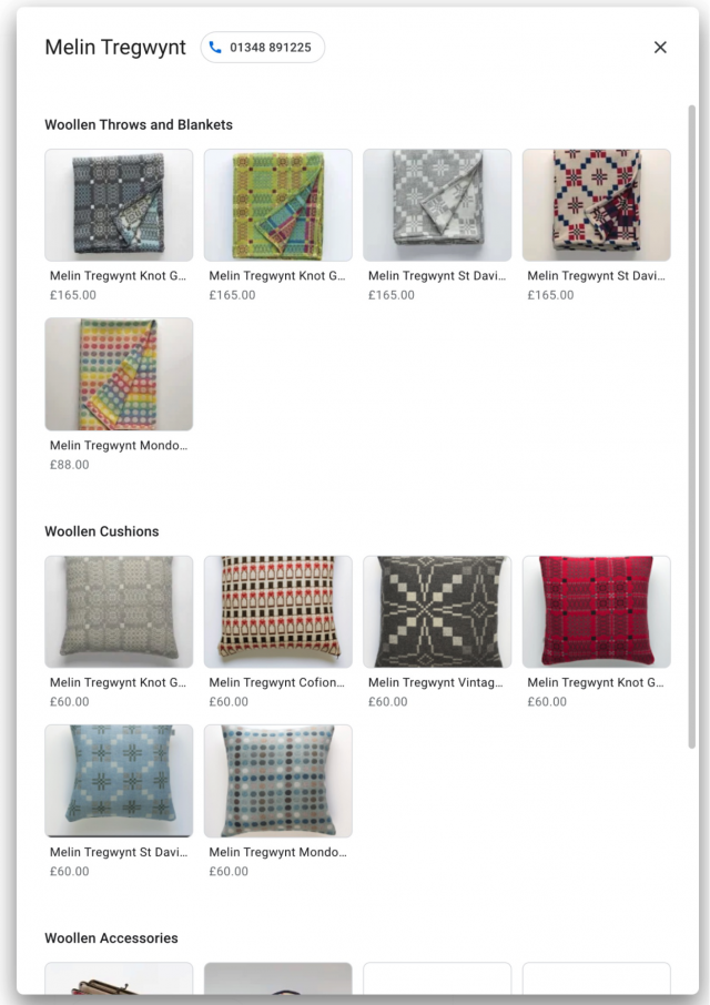 GMB products and services screenshot 16