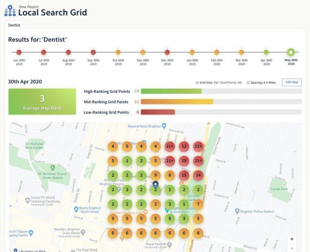 Local Search Grid Screenshot