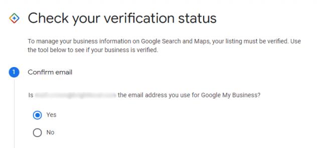 Check your verification status