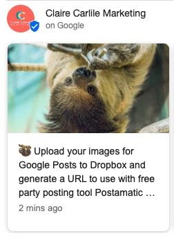 GMB Posts image URL