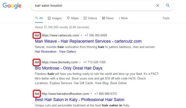 Combining Seo And Ppc 1 Example Of Ppc