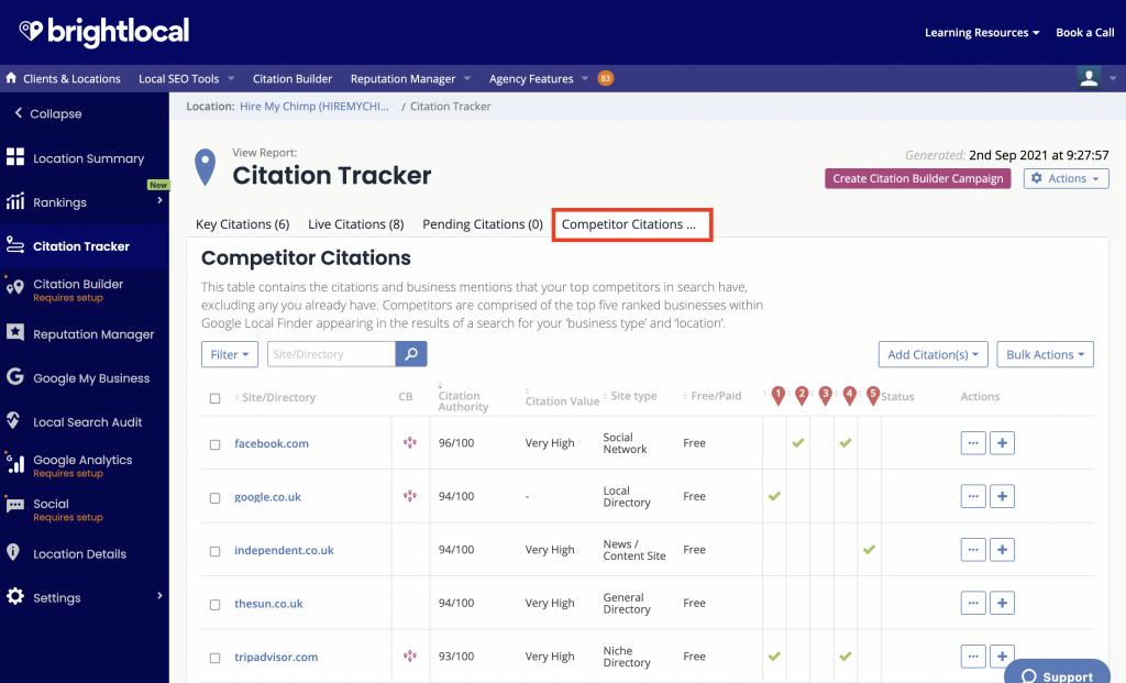 Competitor Citations