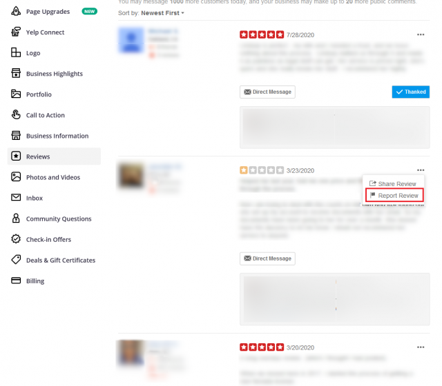 How To Delete Yelp Review Step3
