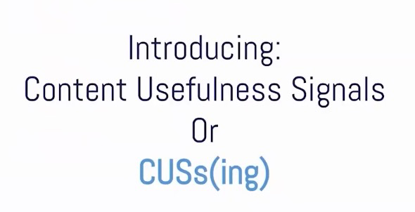 CUSsing: Content Usefulness Signals