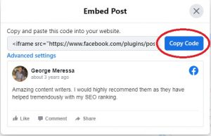Facebook Embed Review 4