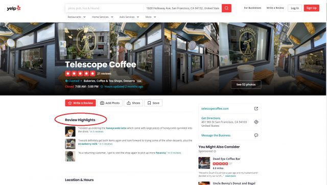 Yelp Embed Review 2